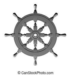 chrome, roue, render, 3d