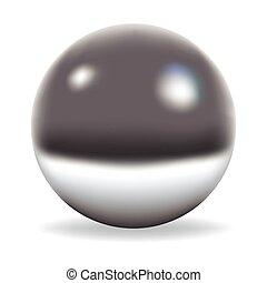 Chrome sphere isolated on white