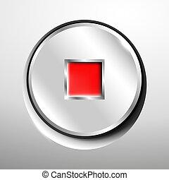 Chrome stop button