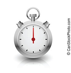 Chrome Stopwatch illustration. - Chrome Stopwatch...