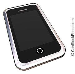 chrome, téléphone, intelligent