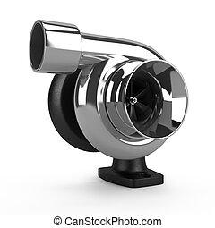 chrome, voiture, turbine