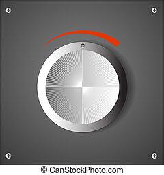 Chrome volume knob. Vector eps10