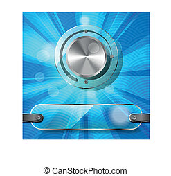 Chrome volume knob with transparenc