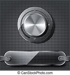 Chrome volume knob