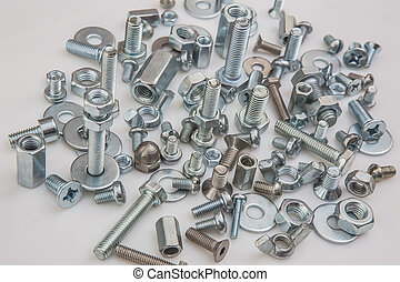 chromeplated bolts and nuts