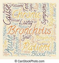 chronic bronchitis symptom text background wordcloud concept