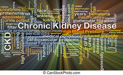 Chronic kidney disease CKD background concept glowing -...