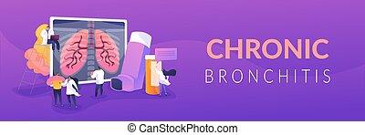 Chronic obstructive pulmonary disease concept banner header