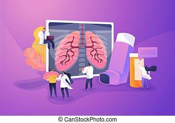 Chronic obstructive pulmonary disease concept vector illustration