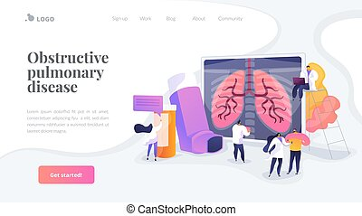 Chronic obstructive pulmonary disease landing page concept