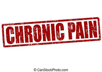 Chronic pain red grunge rubber stamp on white, vector illustration