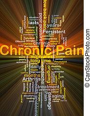 chroniczny, jarzący się, pojęcie, ból, tło