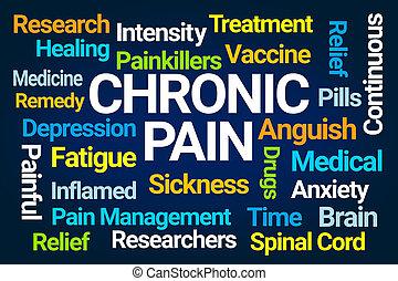 chronique, mot, douleur, nuage