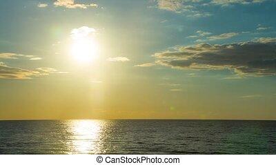 chronocinématographie, coucher soleil, mer