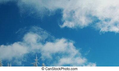 chronocinématographie, nuages blancs, dépassement