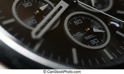 Chronograph Watch With Second Arrow. Extra Close Up