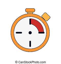 chronomètre, analogue, icône