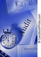 chronomètre, audit, calendrier