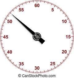 chronomètre, cadran, main