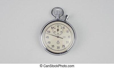 chronomètre, chronocinématographie, fond blanc
