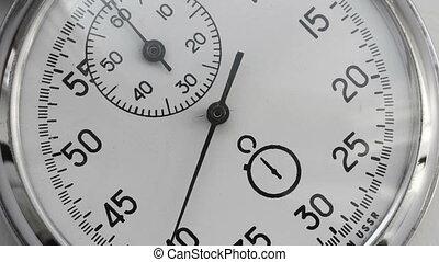 chronomètre, compte, temps