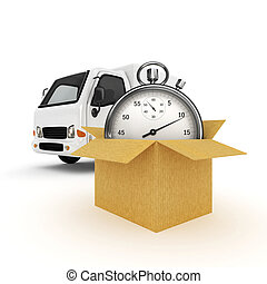 chronomètre, fourgon