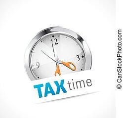 chronomètre, -, impôt, temps