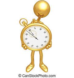 chronomètre, tenue