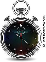 chronomètre, vecteur, conception