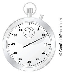 chronometer - Chronometer isolated on a white background....