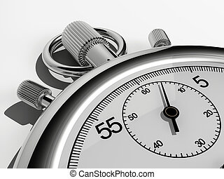 Chronometer - Close up of a chronometer - rendered in 3d