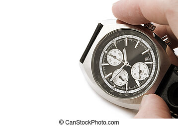 chronometer - focus point on watch(selective)
