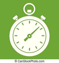 Chronometer icon green