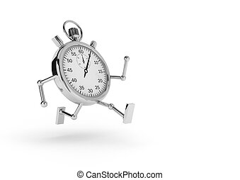 Chronometer that runs - Stopwatch with arms and legs that ...