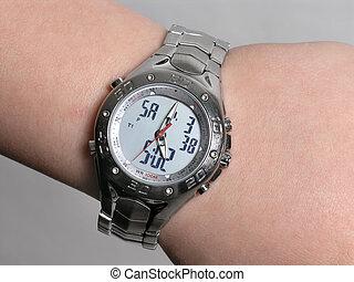 Chronometer Watch 2 - silver Chronometer Watch on hand