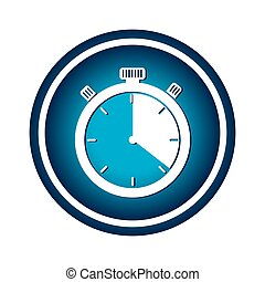 chronometer watch isolated icon
