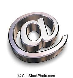 chroom, symbool, 3d