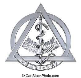 chroom, tandheelkunde, symbool
