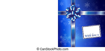 Chrstmas gift blue and silver