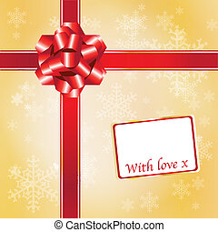 Chrstmas gift red and gold
