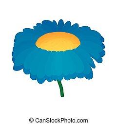 Chrysanthemum icon, cartoon style