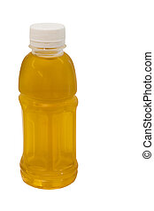 chrysanthemum Thai herb juice in plastic bottle isolated on...