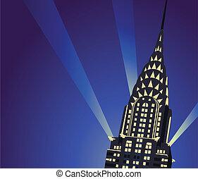 Chrysler Building - Background illustration with Chrysler...