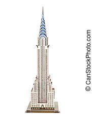 """chrysler, building"", modelo, rascacielos"