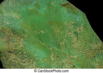 chrysoprase, closeup of the stone