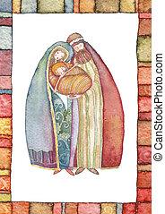 chrystus, m, jezus, józef, boże narodzenie