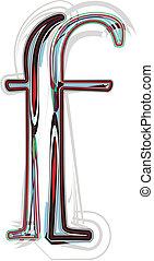 chrzcielnica, ilustracja, litera f