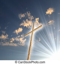 chrześcijanin, krzyż, przeciw, przedimek określony przed rzeczownikami, niebo