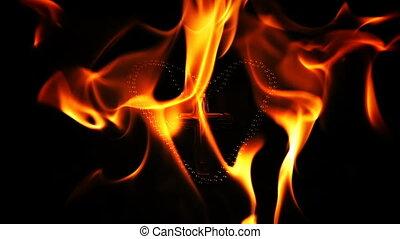 chrześcijanin, ogień, symbol, krzyż, zakon, piekło